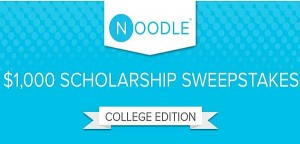 Noodle College Student Scholarship Sweepstakes