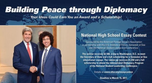 afsa national scholarship essay contest 1 afsa high school essay contest winner 2015 thomas keller dallas roughly one percent of the national budget, by a nominal two million dollars (department of state.
