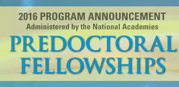 national science foundation pre doctoral fellowship essay The foundation has published a brochure about its new regulatory science fellowship, with details about how to apply this new award offers a $70,000 one-year stipend view a copy of the brochure here .