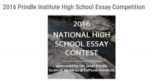 Prindle Institute High School Essay Competition