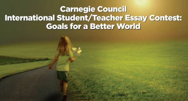 International Essay Contest for Young People, 2018