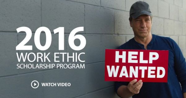 2016 Work Ethic Scholarship Program