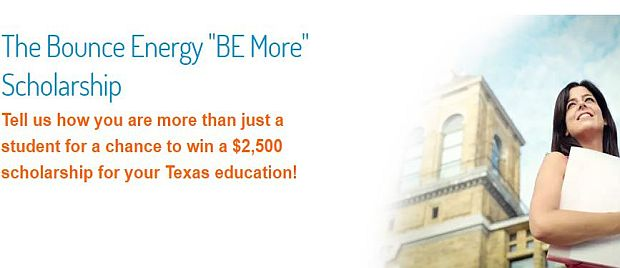 "The Bounce Energy ""BE More"" Scholarship"