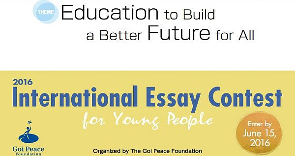 Contest essay international scholarship student
