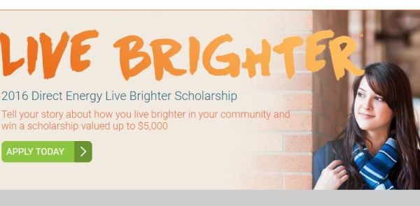 2016 Direct Energy Live Brighter Scholarship