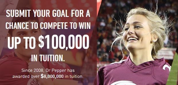 Dr pepper tuition giveaway promotion and contest