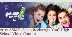 ASMF Sleep Recharges You Video Contest