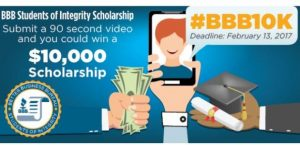 BBB Students of Integrity Scholarship