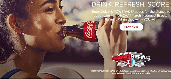 Coca-Cola NCAA March Madness Bracket Refresh Promotion