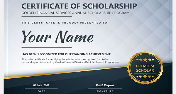Golden Financial Services Annual Scholarship Program