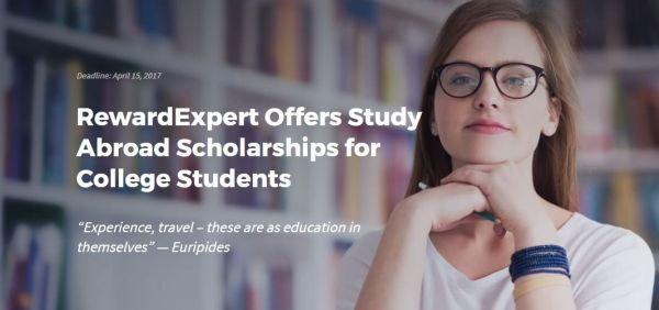 The RewardExpert Study Abroad Scholarship