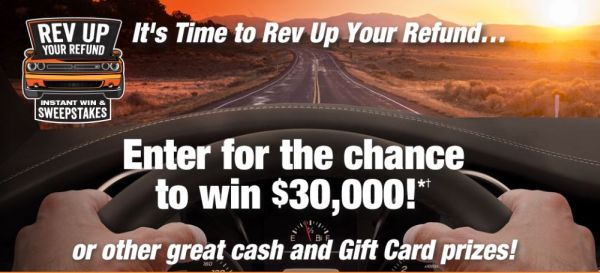 Rev Up Your Refund Instant Win Game and Sweepstakes