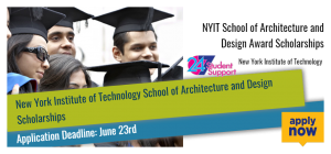 NYIT School of Architecture and Design Award Scholarships