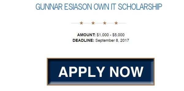 BEF Gunnar Esiason Own It Scholarship