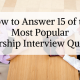 How to Answer 15 of the Most Popular Scholarship Interview Questions