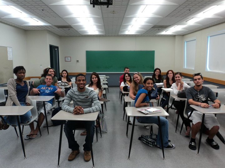 classroom in a college