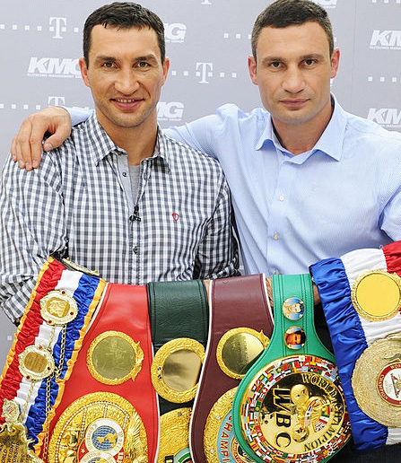 The Klitschko Brothers with their boxing medals.